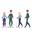 Couple of young male and female adult nordic vector image vector image