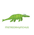 cute dinosaur metriorhynchus cartoon drawn for tee vector image vector image