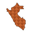 dotted line map of peru vector image