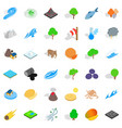 earth icons set isometric style vector image vector image
