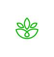 eco wellness logo icon design vector image vector image