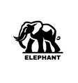 elephant symbol logo black white style vector image