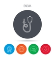 Enema icon Medical clyster sign vector image vector image