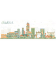 faisalabad pakistan city skyline with color vector image vector image