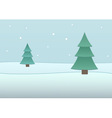 fir-tree background vector image vector image