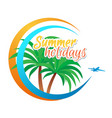 for web banner summer vector image vector image