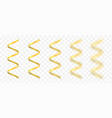 golden confetti ribbons vector image
