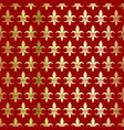 golden lily on a red background seamless pattern vector image