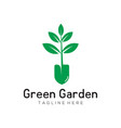 green leaf garden logo and icon design vector image vector image