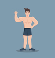 gym fitness muscular cartoon man vector image vector image