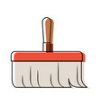 hand broom with wooden stick in colorful vector image vector image