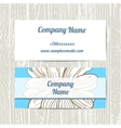 Hand Drawn Camomiles Business Cards vector image