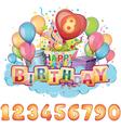 Happy Birthday balloon set vector image