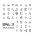 happy easter thin line icons big set modern vector image vector image