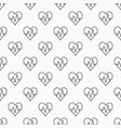 heart pulse seamless minimal pattern vector image