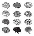Human Brain Designs Icon Set vector image vector image