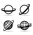 icons planet vector image vector image