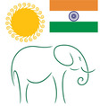 India vector image vector image
