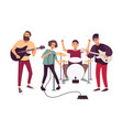 indie rock music band performing on stage vector image vector image