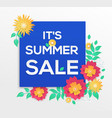 it is summer sale - modern colorful vector image