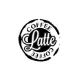 Latte coffee stain badges black and White vector image