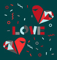 love word hand drawn lettering vector image vector image