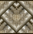 luxury 3d modern seamless pattern grid lattice vector image vector image
