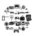 mechanism icons set simple style vector image vector image