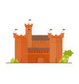 medieval fortress citadel or stronghold with vector image