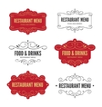 Menu labels vector image vector image