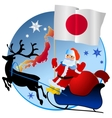 Merry Christmas Japan vector image vector image