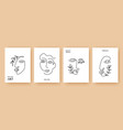 minimal abstract backgrounds with one line faces vector image