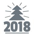 minimal christmas tree logo simple gray style vector image vector image