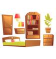 modern furniture for bedroom vector image vector image