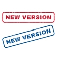 New Version Rubber Stamps vector image vector image