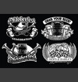 oktoberfest badge set in black and white vector image vector image