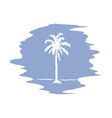 palm logo serenity vector image vector image
