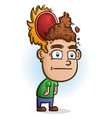 poop for brains cartoon character vector image vector image