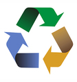 Recycling colors arrows vector image