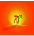 Rooster New Year 2017 Year of the Rooster Flat vector image vector image
