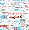 Seamless graphic design elements for fishing vector image vector image