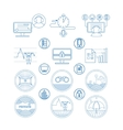 Set icons and pictogram vector image vector image