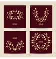 Set of cards with vintage design Floral vector image vector image