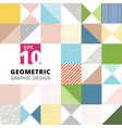 set of geometric graphic design colorful pattern vector image vector image