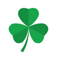 shamrock clover icon st patrick s day symbol vector image