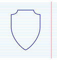 shield sign navy line icon vector image vector image