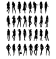 Silhouettes of Girls vector image