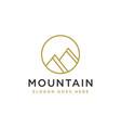 simple mountain summit logo mountain peak logo vector image vector image