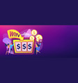 slot machine concept banner header vector image