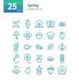 spring gradient icon set vector image